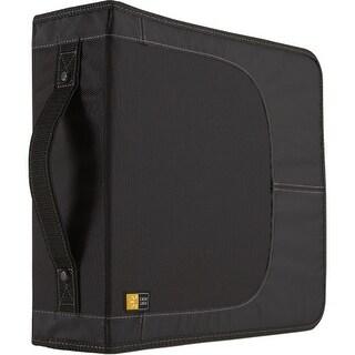"""Case Logic CDW-208 Case Logic CD Wallet - Book Fold - Nylon - Black - 208 CD/DVD"""