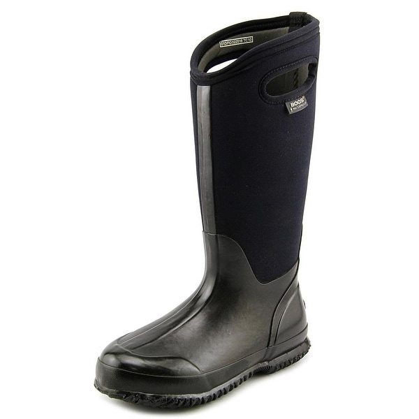 Bogs Classic High Handle Women Round Toe Canvas Black Rain Boot