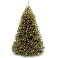 7.5 ft. Rocky Ridge Medium Pine Tree with Clear Lights - green