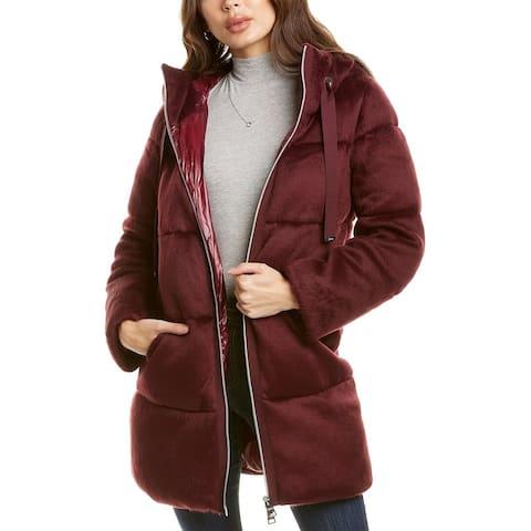 Herno Plain Medium Down Wool-Blend Jacket