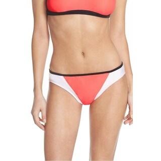 ZELLA NEW Pink White Women's Small S Colorblock Bikini Bottom Swimwear