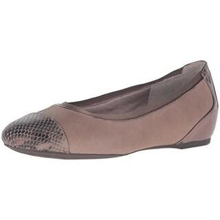 Rockport Womens Flats Leather Cap Toe