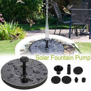 Mini Solar Fountain Solar Water Fountain for Ourdoor Birdbaths Pond Small Pool Garden Decoration