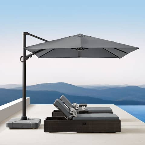 Wevok 10 foot Sunbrella Canopy Patio Umbrella with Base by Havenside Home