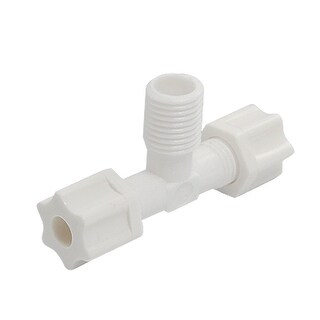 Unique Bargains Replaceable Plastic T Shape Pipe Connector White for Water Filter