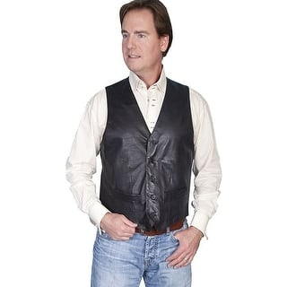 Scully Western Vest Mens Lambskin Leather Button Black 122-198|https://ak1.ostkcdn.com/images/products/is/images/direct/be2142cc2b43817e451d0ea65f0884f9e740858d/Scully-Western-Vest-Mens-Lambskin-Leather-Button-Black-122-198.jpg?impolicy=medium
