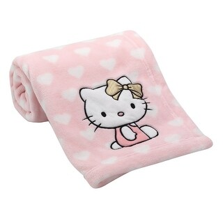 Lambs & Ivy Pink Hello Kitty Baby Blanket