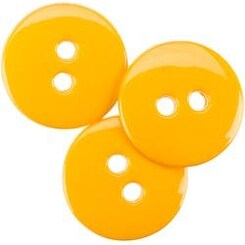 """Yellow 5/8"""" - Small Color Buttons 20/Pkg"""