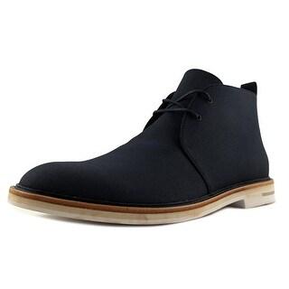 Calvin Klein Jonas Men Wingtip Toe Canvas Blue Chukka Boot