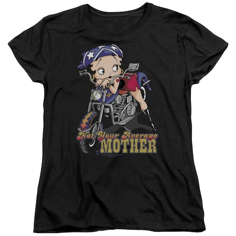 Betty Boop Not Your Average Mother Womens Short Sleeve Shirt