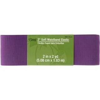"Violet - Dritz Soft Waistband Woven Elastic 2""X2yd"