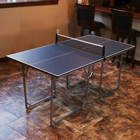 Sunnydaze Indoor Table Tennis Table - Folding - 72 x 36 Inches - Includes Net