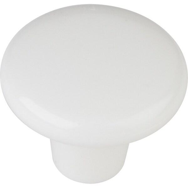"Elements HR893 Tempo 1-3/8"" Diameter Mushroom Cabinet Knob - White"