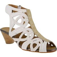 L'Artiste by Spring Step Women's Flourish White Leather