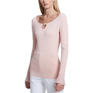 Calvin Klein Womens Pullover Sweater Knit Flare Sleeves