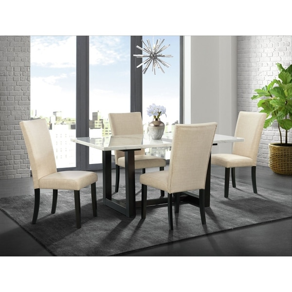 Picket House Furnishings Florentina 5PC Standard Dining Set- Table & Four Chairs. Opens flyout.