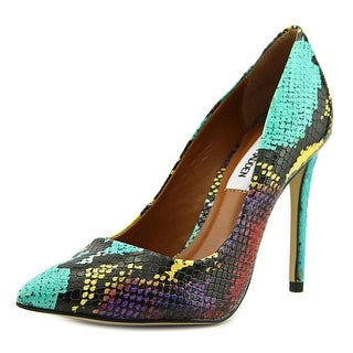 Steve Madden Proto Women Pointed Toe Leather Multi Color Heels