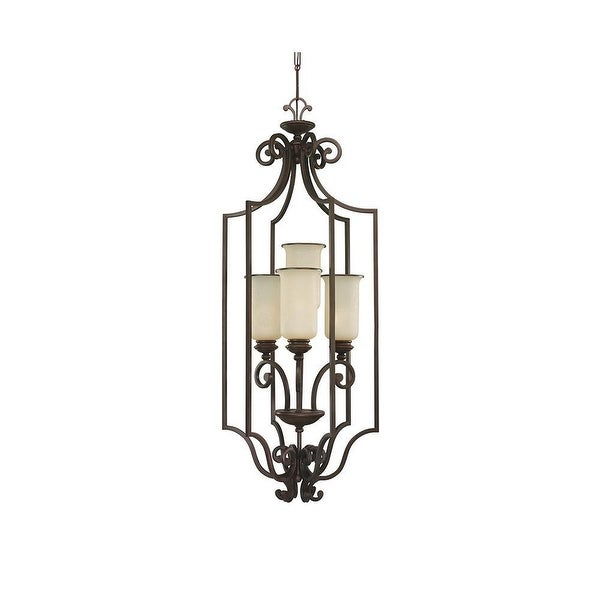 Sea Gull Lighting 51146-814 4-Light Acadia Hall Foyer Champ Glass Misted Bronze - Bronze Finish