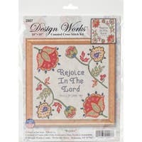 "Rejoice Counted Cross Stitch Kit-10""X10"" 14 Count"