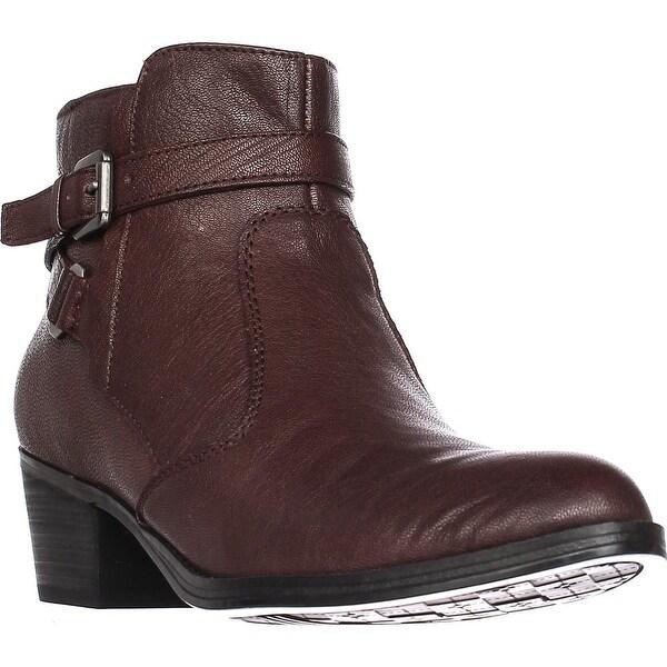 naturalizer Zakira Casual Zip Up Ankle Boots, Wine - 9 us / 39 eu