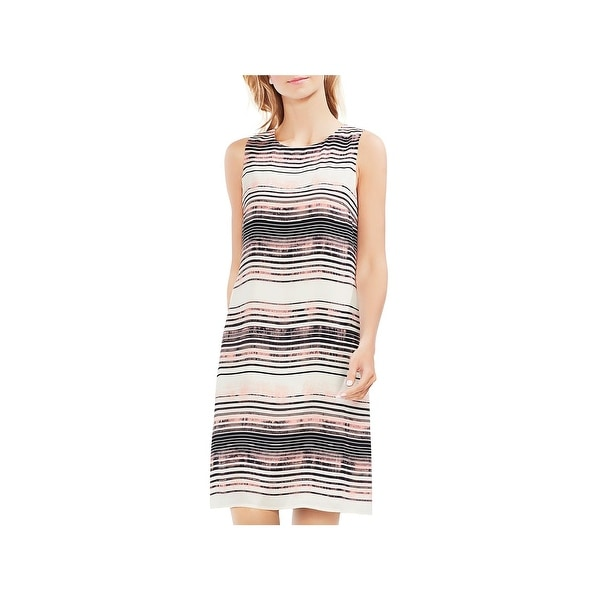 Vince Camuto Womens Ancient Shift Dress Sleeveless Striped
