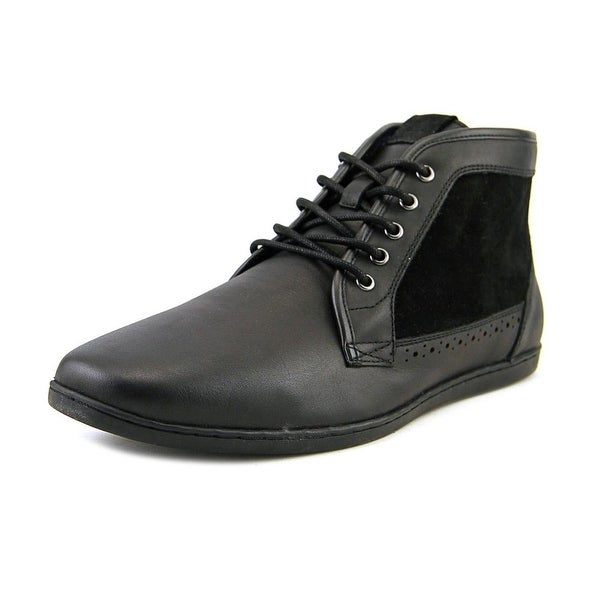 Aldo Roan Men Round Toe Leather Black Boot