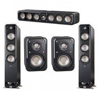 Polk Audio Signature 5.0 System with 2 S60 Speakers, 1 Polk S35, 2 Polk S10 Speakers