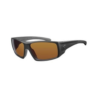 Ryders Eyewear Trapper Matte Black with Brown Polarized Lens Sunglasses