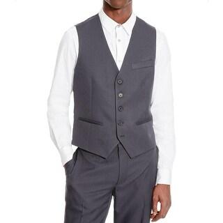 Kenneth Cole Reaction Mens Palmer Suit Vest Pinstripe Button Front