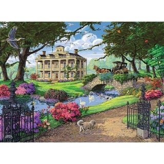 Visiting the Mansion 500 Piece Puzzle