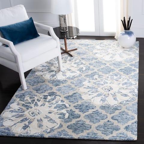 SAFAVIEH Handmade Glamour Buse Floral Trellis Wool/ Viscose Rug