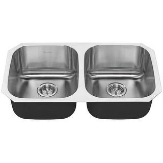 """American Standard 18DB.9311800S Portsmouth 32-1/4"""" Double Basin Stainless Steel Kitchen Sink for Undermount Installations -"""
