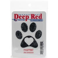 "Pawprint - Deep Red Cling Stamp 2""X2"""