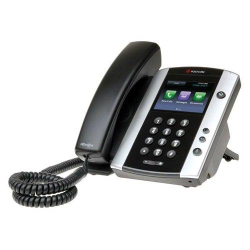 Polycom 2200-48500-025 VVX 501 12-line Corded Business Media Phone