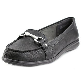 A2 By Aerosoles Time Limit Women Moc Toe Synthetic Black Loafer