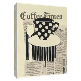 """PTM Images 9-154296  PTM Canvas Collection 10"""" x 8"""" - """"Coffee Times"""" Giclee Coffee, Tea & Espresso Art Print on Canvas"""