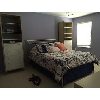Madison Park Aria Navy Cotton Sateen 7-piece Comforter Set