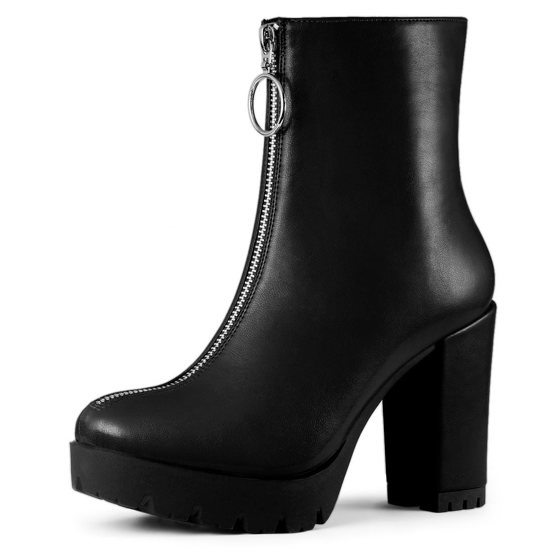 womens black high heel ankle boots