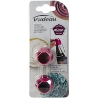Decorating Bag Couplers 2/Pkg-Fuchsia Medium
