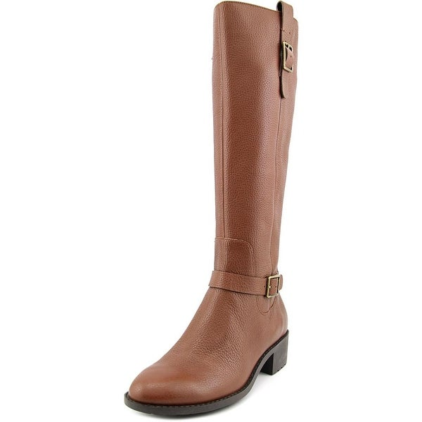 Cole Haan Kenmare Boot Women Round Toe Leather Brown Knee High Boot