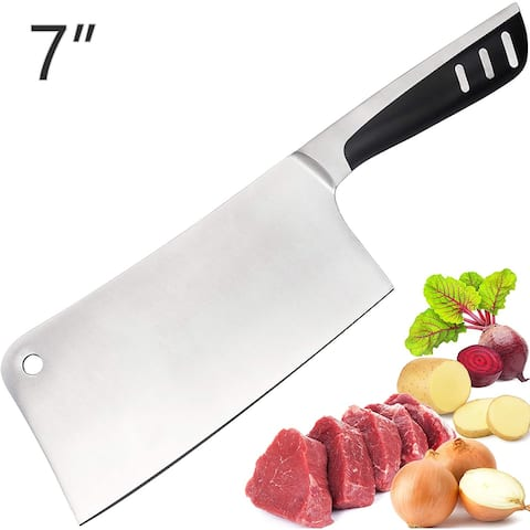Stainless Steel Butcher Chef/ Knife Meat Cleaver Lux Decor Collection