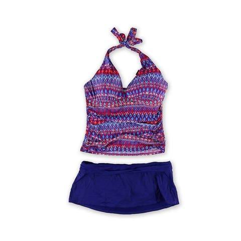 La Blanca Womens Tribal Skirt 2 Piece -, purple, 16