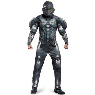 Disguise Spartan Locke Muscle Adult Costume - Black