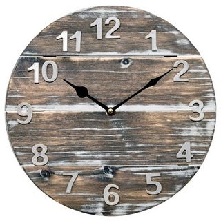 LA Crosse Technology 244286 12 in. Wood Panel Analog Wall Clock