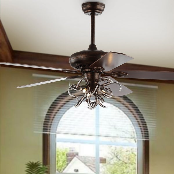 "Safavieh Lighting 52-Inch Sensa Ceiling Light Fan (with Remote) - 52"" W x 52"" L x 25.5"" H"