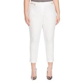 Calvin Klein Womens Plus Dress Pants Ankle Classic Fit - 14W