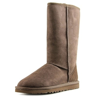 Ugg Australia Classic Tall Women Round Toe Suede Brown Winter Boot