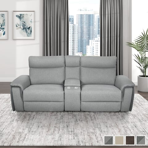 Blythe Power Double Reclining Loveseat with Console