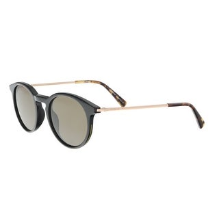 Montblanc MB549/S 05J Black/Gold Round Sunglasses - 49-20-145