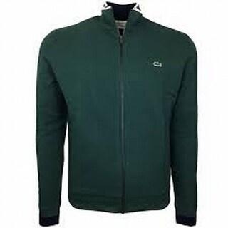 Lacoste NEW Green Men's Size 3XL Logo Full Zip Mock-Neck Sweater